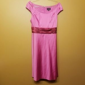 Adrianna Papell |Hot Pink Cocktail Dress (Size 14)